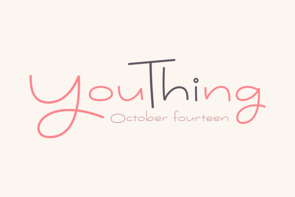 Print on Demand: Youthing October Fourteen Script & Handwritten Font By Situjuh - Image 1