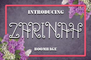 Zarinah Font By Boombage