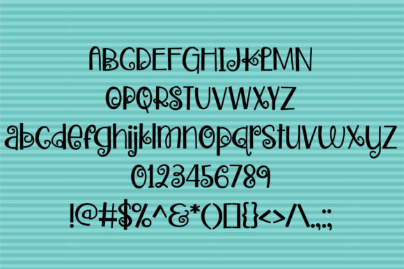 Zweetie Curliecue Font By Illustration Ink Image 2