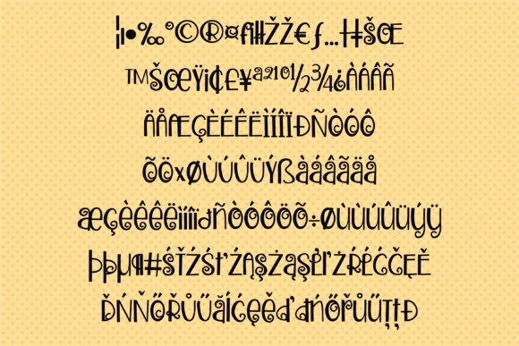 Zweetie Curliecue Font By Illustration Ink Image 3