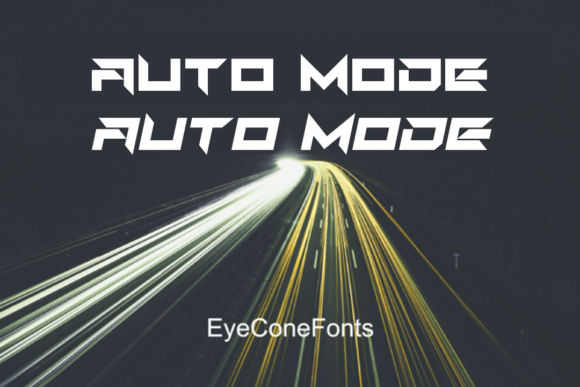 Print on Demand: Auto Mode Display Font By EyeCone