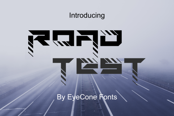 Print on Demand: RoadTest Display Font By EyeCone