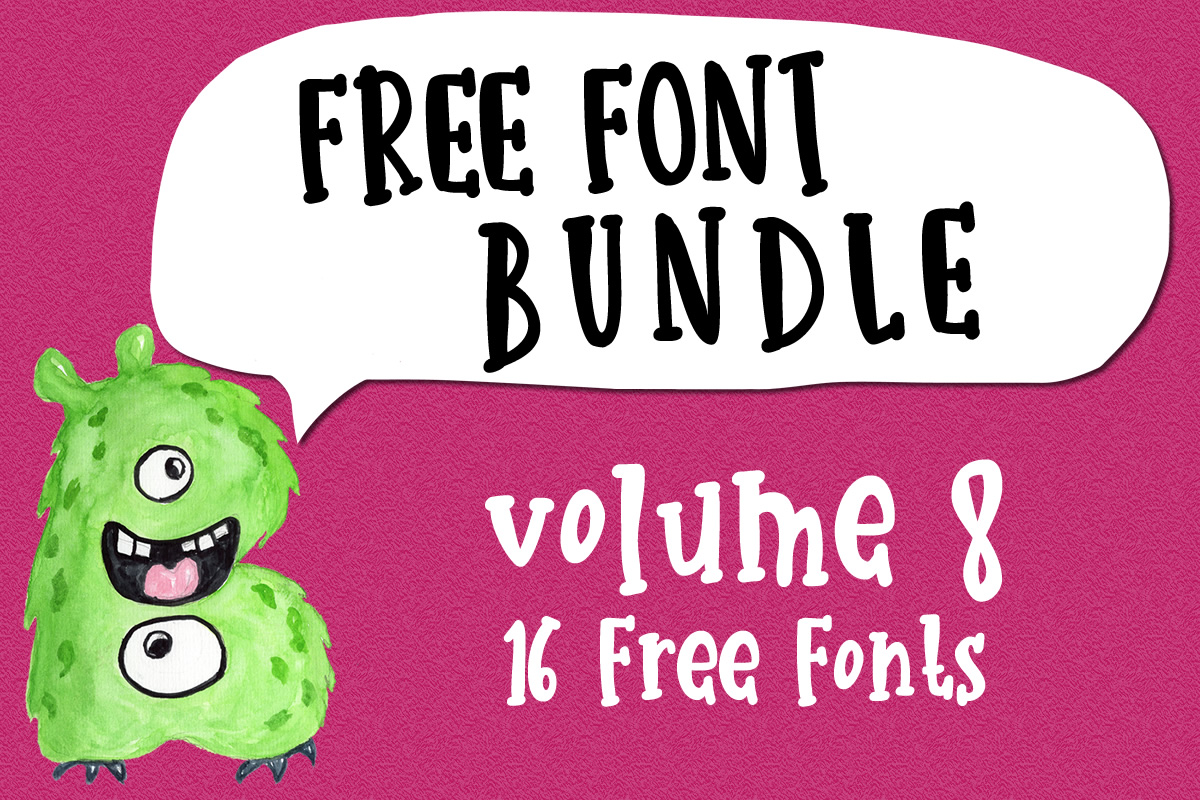 Download Free Free Font Bundle Vol 8 Bundle Creative Fabrica for Cricut Explore, Silhouette and other cutting machines.