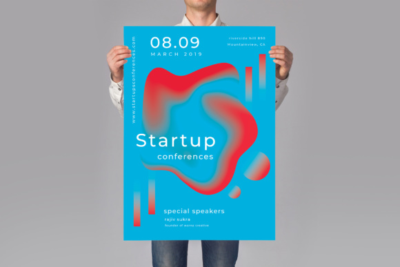 Startup Conferences Graphic Print Templates By TMint