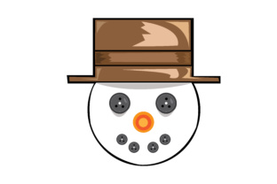 Download Free Vector Snowman Face Graphic By Rfg Creative Fabrica for Cricut Explore, Silhouette and other cutting machines.