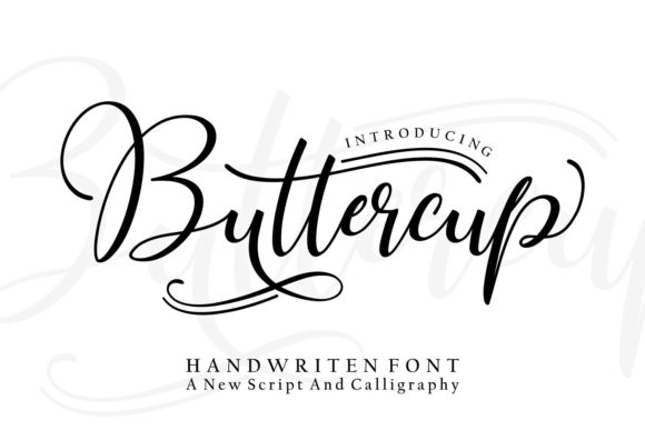 Print on Demand: Buttercup Script & Handwritten Font By wdfont.creative