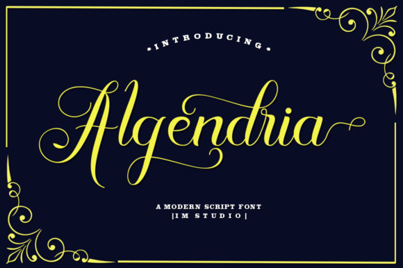 Print on Demand: Algendria Script & Handwritten Font By IM Studio