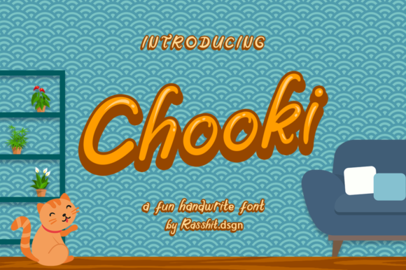 Print on Demand: Chooki Display Font By Rasshit.dsgn
