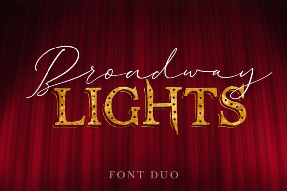 Broadway Lights Duo Script & Handwritten Font By Red Ink