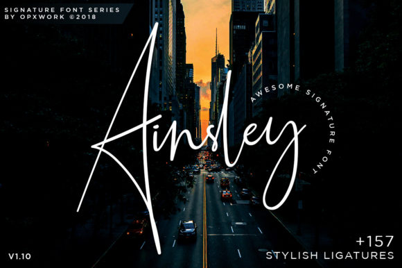 Print on Demand: Ainsley Script & Handwritten Font By Ariya Works Studio