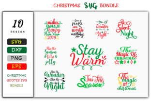 Download Free 10 Christmas Design Bundle Graphic By Handmade Studio Creative for Cricut Explore, Silhouette and other cutting machines.