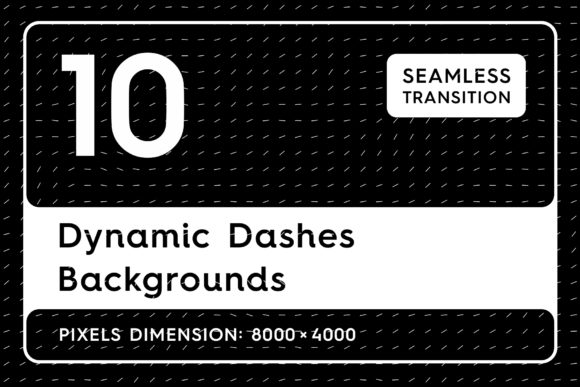 10 Dynamic Dashes Backgrounds Graphic