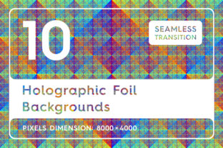 10 Holographic Foil Backgrounds Graphic By Textures