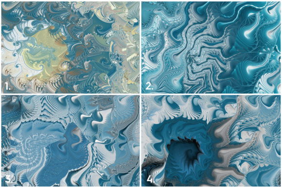 10 Sea Swirls Backgrounds Textures Graphic Download