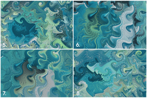 10 Sea Swirls Backgrounds Textures Graphic Item