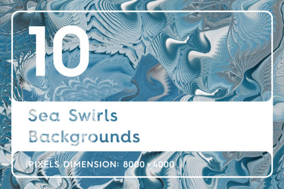 10 Sea Swirls Backgrounds Textures Graphic