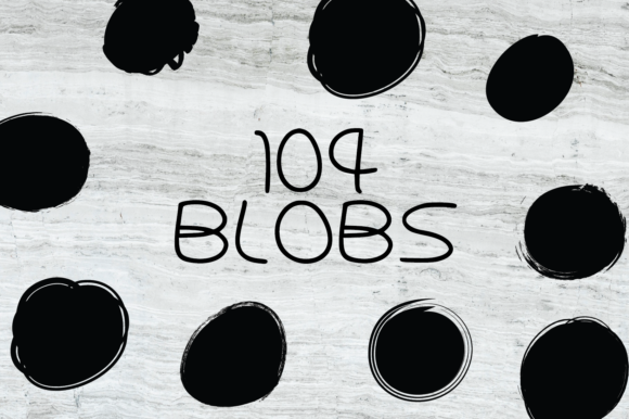 Print on Demand: 104 Blobs Flashes Textured Graphics Graphic Graphic Templates By GraphicsBam Fonts