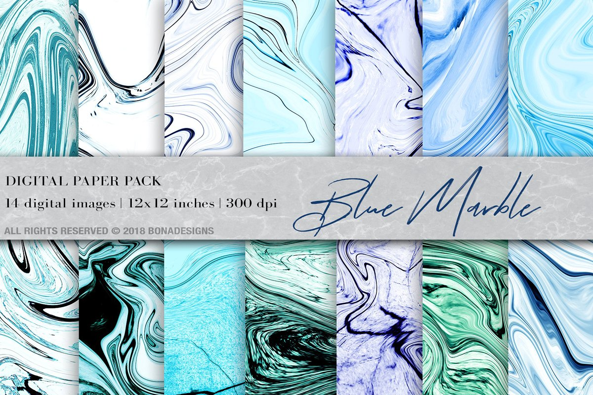 Marble Background Digital Paper Graphic By Bonadesigns