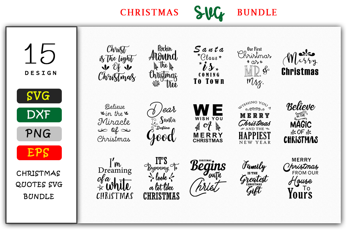 Download Free 15 Christmas Design Bundle Graphic By Handmade Studio Creative for Cricut Explore, Silhouette and other cutting machines.