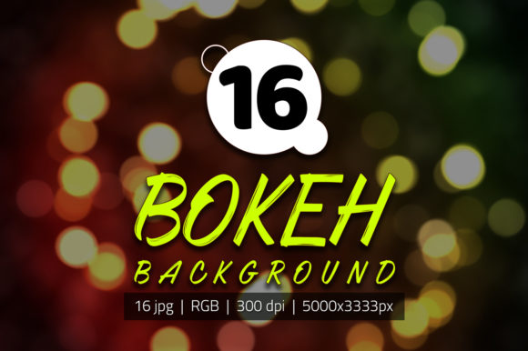 Print on Demand: 16 Abstract Bokeh Backgrounds Graphic Photos By yantodesign