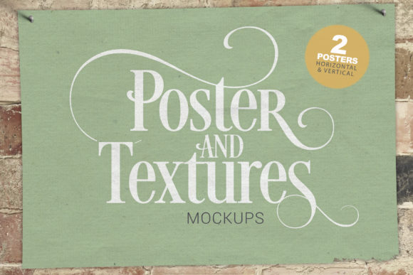 2 Poster & Textures Mockups Graphic Product Mockups By SmartDesigns
