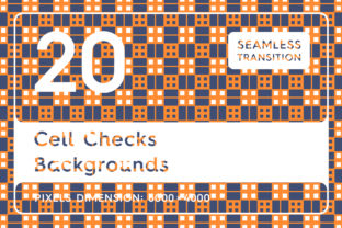 20 Cell Checks Backgrounds Graphic By Textures