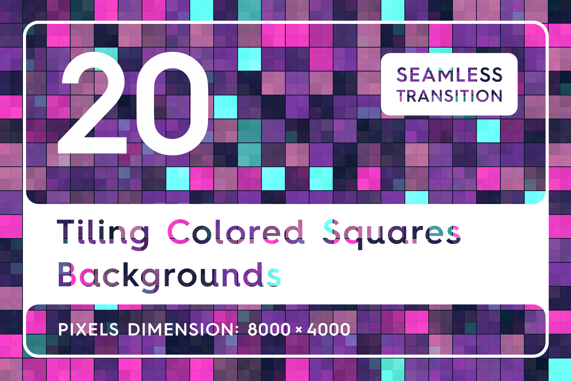 Download Free 20 Tiling Colored Squares Backgrounds Graphic By Textures for Cricut Explore, Silhouette and other cutting machines.
