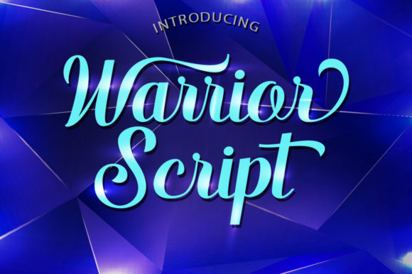 Print on Demand: Warrior Script Script & Handwritten Font By typehill - Image 1