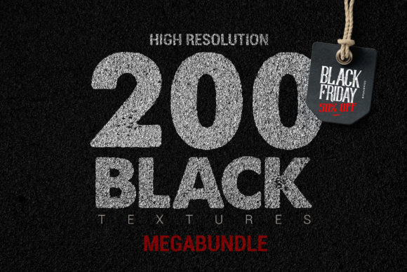 200 Black Textures Megabundle Graphic Textures By SmartDesigns