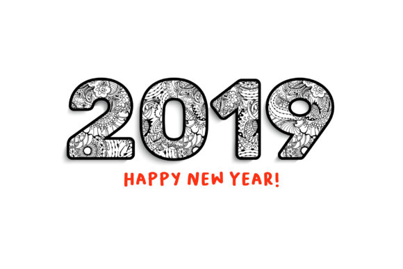 2019 New Year Numbers Illustrations and Calendar Graphic Illustrations By ilonitta.r