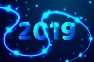 2019 Blue Text Design Background Graphic By ojosujono96