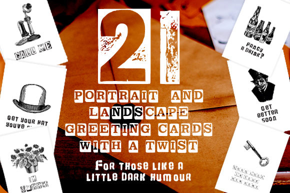 Download Free 21 Various Funny Dark Reto Gift Card Pack Graphic By Graphicsbam for Cricut Explore, Silhouette and other cutting machines.