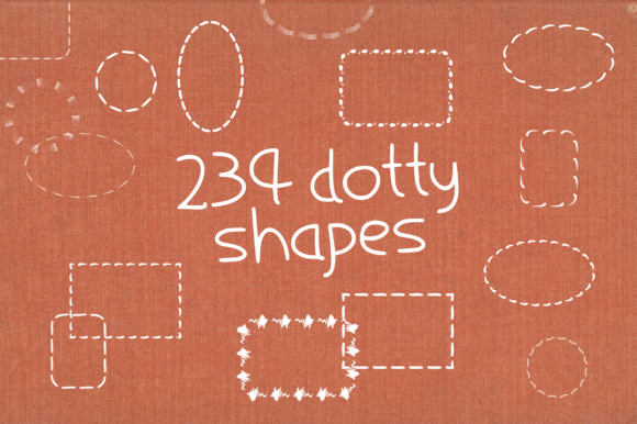 Print on Demand: 234 Textured Dotty Shapes Graphic Print Templates By GraphicsBam Fonts