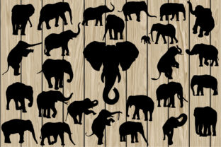 Download Free 26 Elephants Graphic By Cosmosfineart Creative Fabrica for Cricut Explore, Silhouette and other cutting machines.
