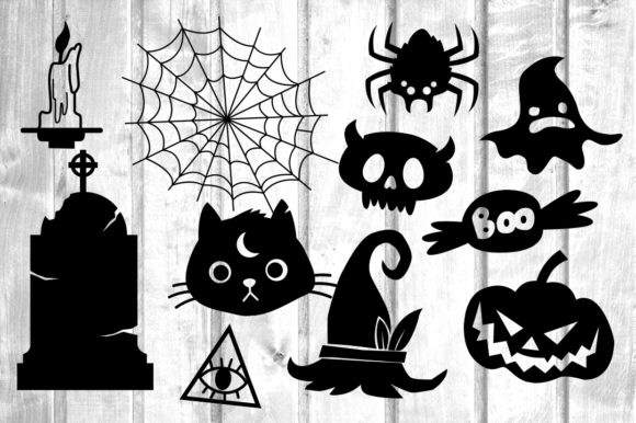 Print on Demand: 31 Halloween Doodles Graphic Crafts By davidrockdesign - Image 2