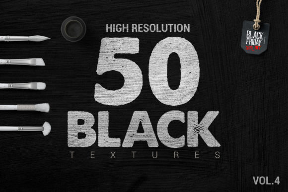 50 Black Textures VOL4 Graphic Textures By SmartDesigns - Image 4