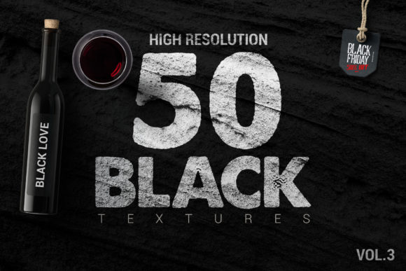 50 Black Textures Graphic By SmartDesigns Image 1