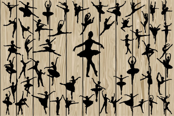 Print on Demand: 50 Ballerina Dancers SVG Graphic Crafts By CosmosFineArt