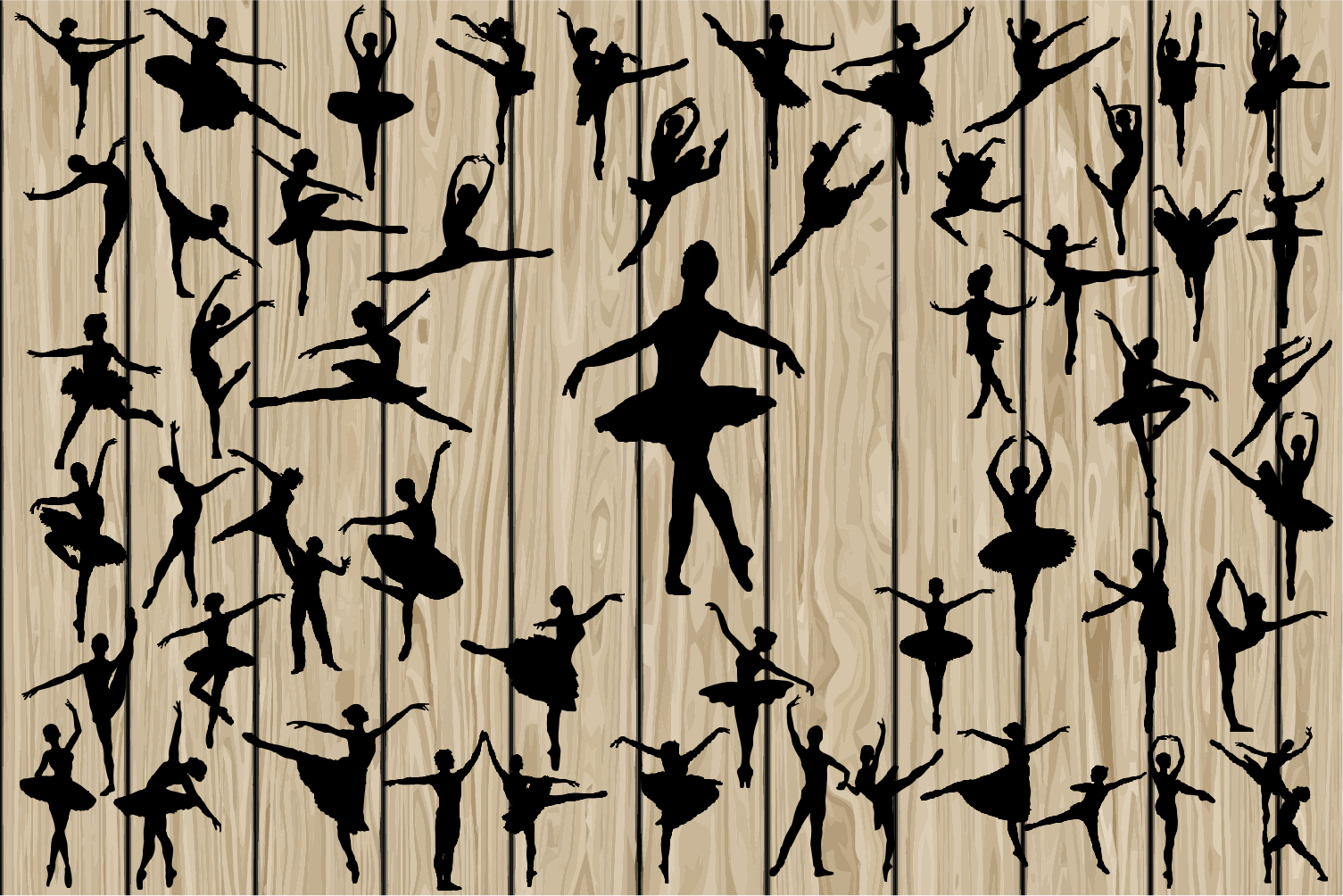 Download Free 50 Ballerina Dancers Svg Graphic By Cosmosfineart Creative Fabrica for Cricut Explore, Silhouette and other cutting machines.