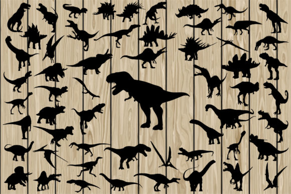 Print on Demand: 57 Dinosaurs Graphic Crafts By CosmosFineArt