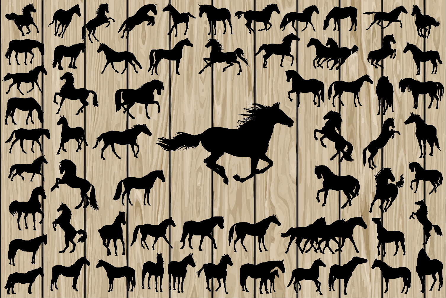 Download Free 62 Horse Silhouettes Svg Graphic By Cosmosfineart Creative Fabrica for Cricut Explore, Silhouette and other cutting machines.