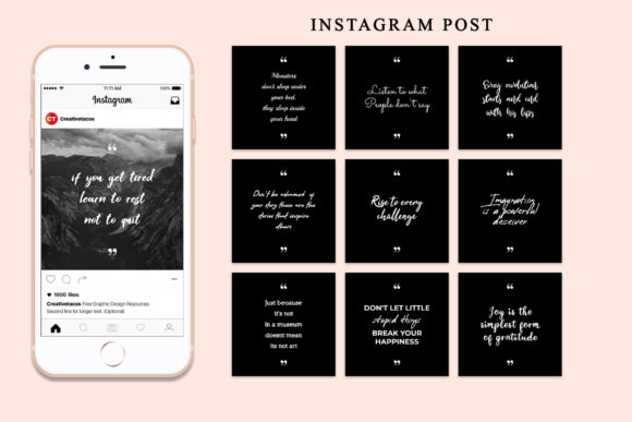 Download Free 65 Inspirational Social Media Quotes Pack Graphic By Creative for Cricut Explore, Silhouette and other cutting machines.