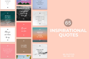 Print on Demand: 65 Inspirational Social Media Quotes Pack Graphic Websites By Creative Tacos