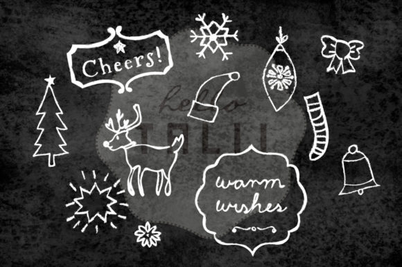 Download Free 75 Christmas Chalk Doodles Graphic By Hello Talii Creative Fabrica for Cricut Explore, Silhouette and other cutting machines.