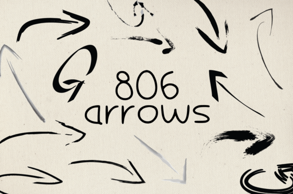 Print on Demand: 806 Arrows Graphic Graphic Templates By GraphicsBam Fonts