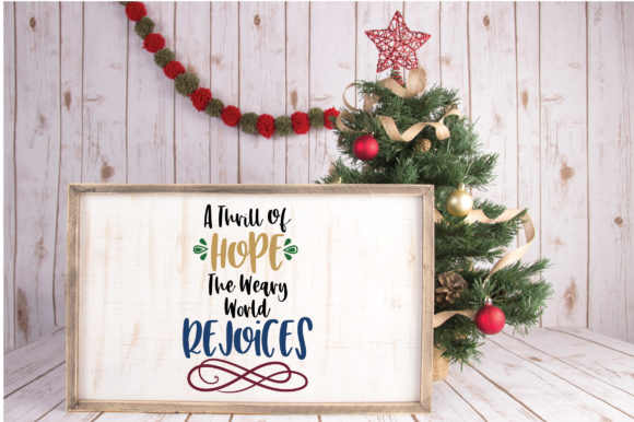 Download Free A Thill Of Hope Christmas Svg Cut File Graphic By for Cricut Explore, Silhouette and other cutting machines.