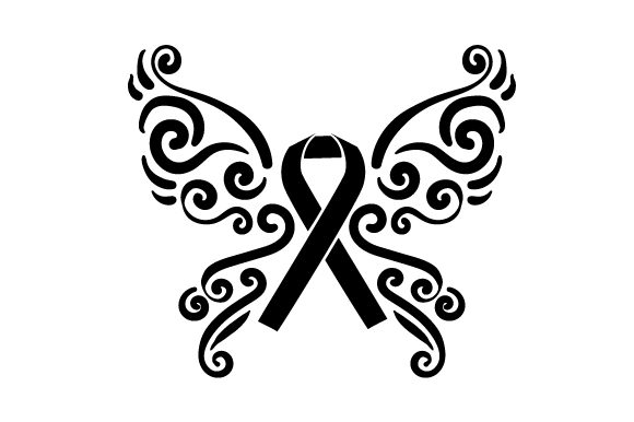 Download Free A Butterfly With Orange Ribbon In The Middle Svg Cut File By for Cricut Explore, Silhouette and other cutting machines.