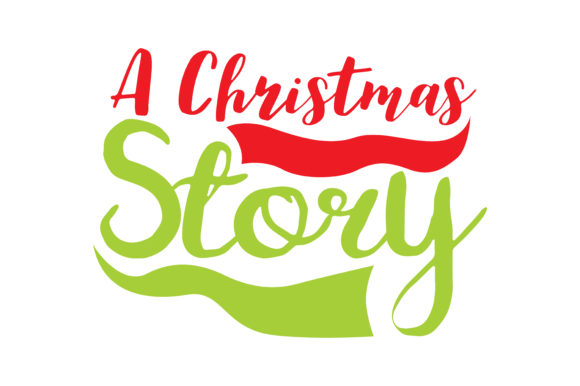 Download Free A Christmas Story Graphic By Thelucky Creative Fabrica for Cricut Explore, Silhouette and other cutting machines.