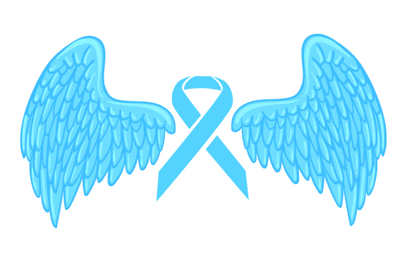 Download Free A Turqoise Ribbon With Angel Wings Archivos De Corte Svg Por for Cricut Explore, Silhouette and other cutting machines.