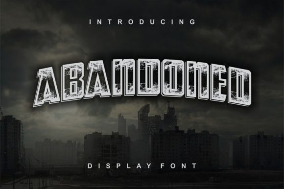 Print on Demand: Abandoned Display Font By bywahtung